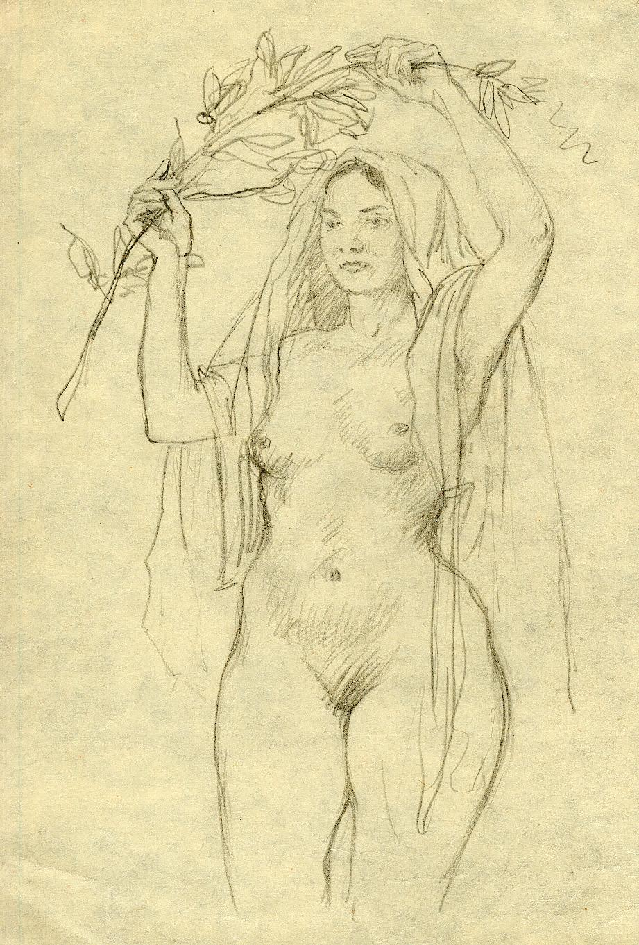 Xxx girls pencil sketch drawing erotic toons